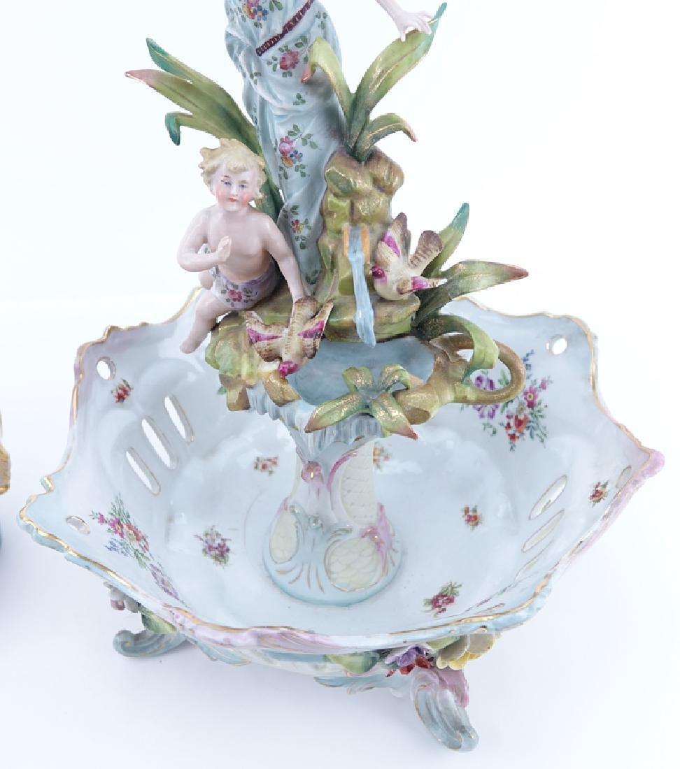Two (2) German Vintage Decorative Porcelain Groups. - 5