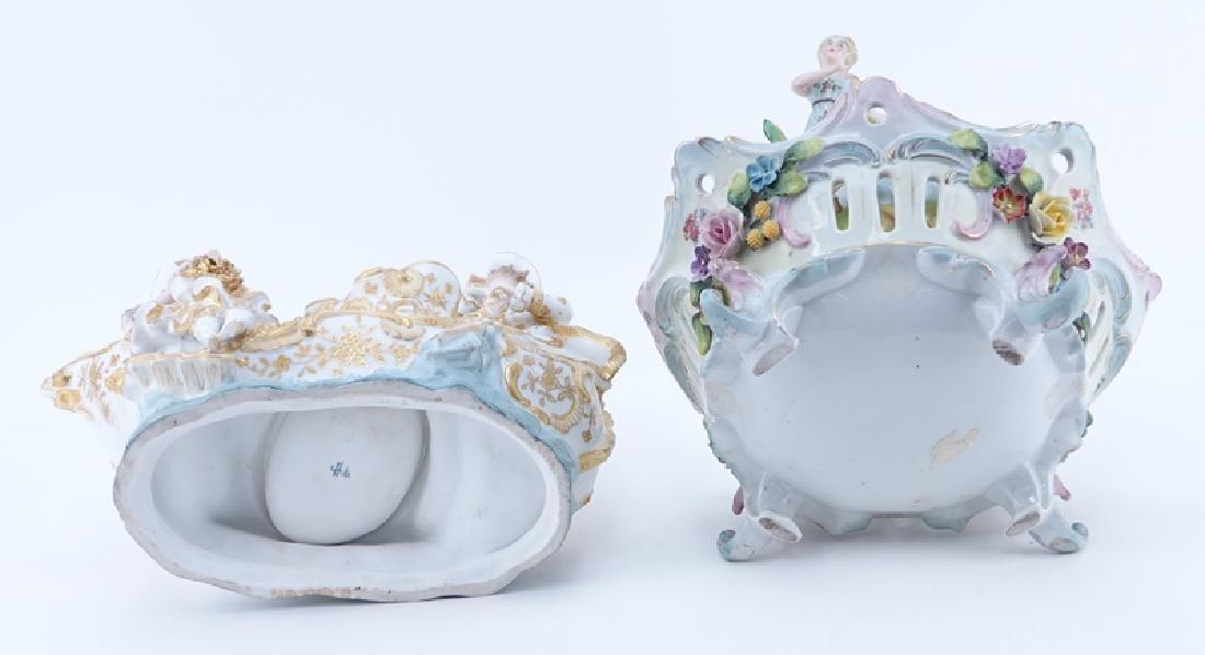 Two (2) German Vintage Decorative Porcelain Groups. - 6