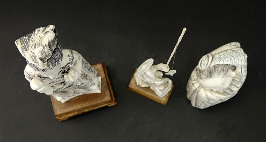 Grouping of Three (3) Oriental Carved Ivory Figures. - 2