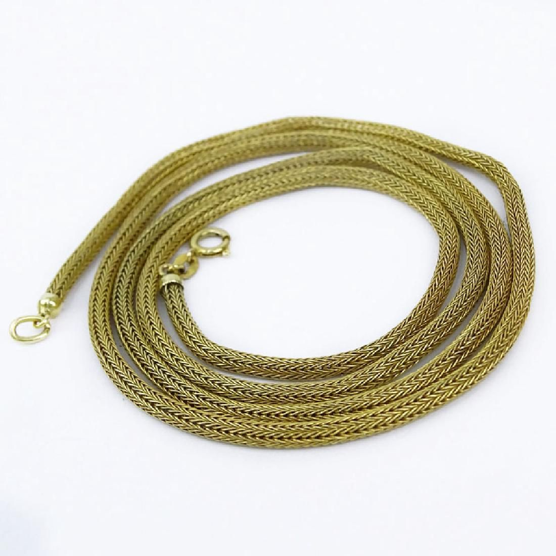 Vintage 18 Karat Yellow Gold Mesh Link Necklace.