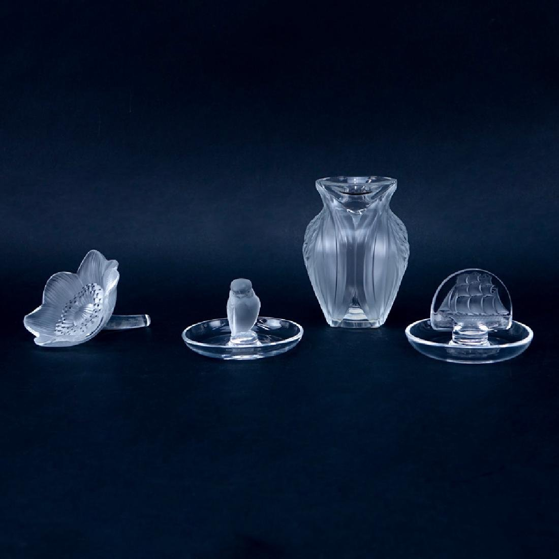 Collection of Four (4) Lalique Crystal Tableware.