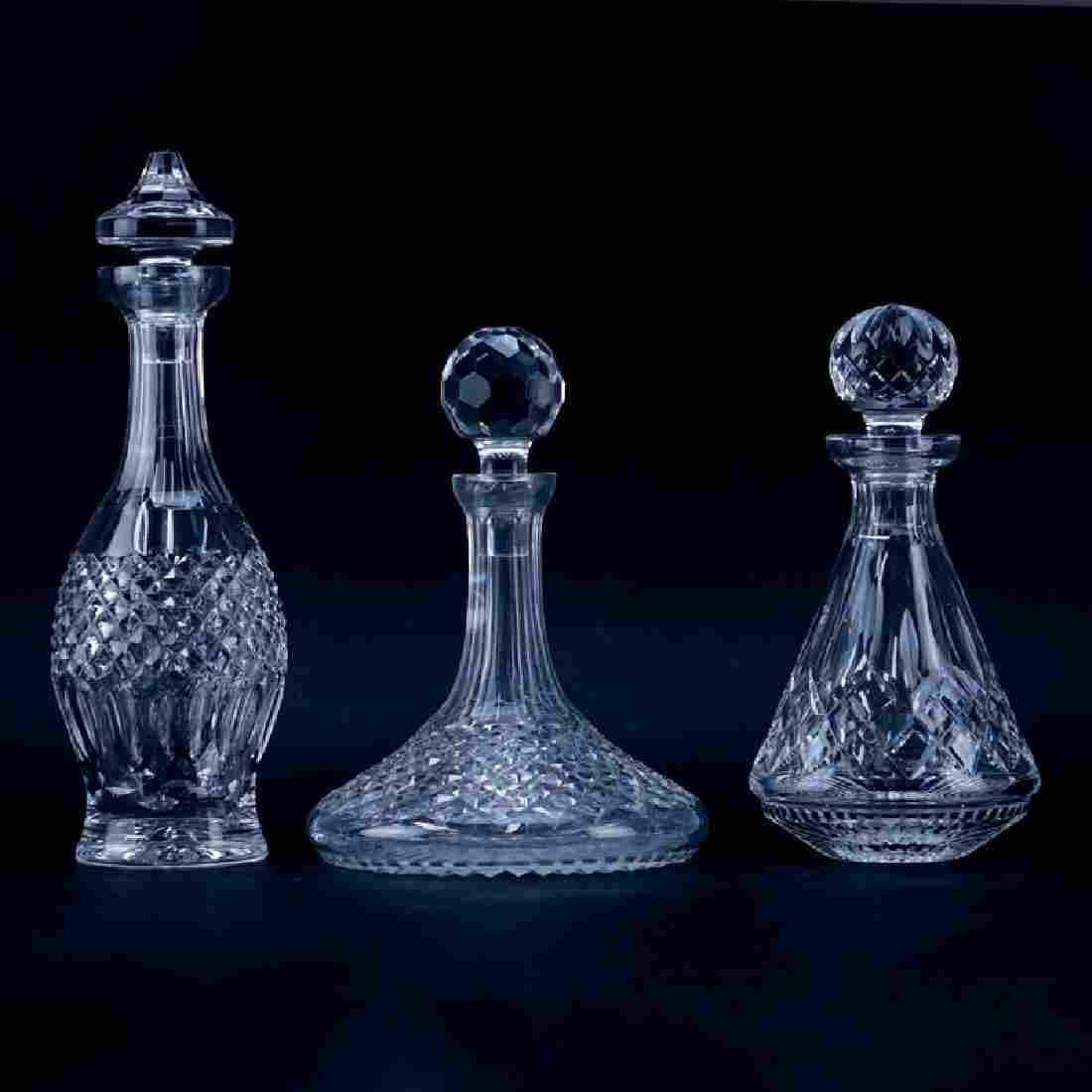 Collection of Three (3) Waterford Crystal Decanters.