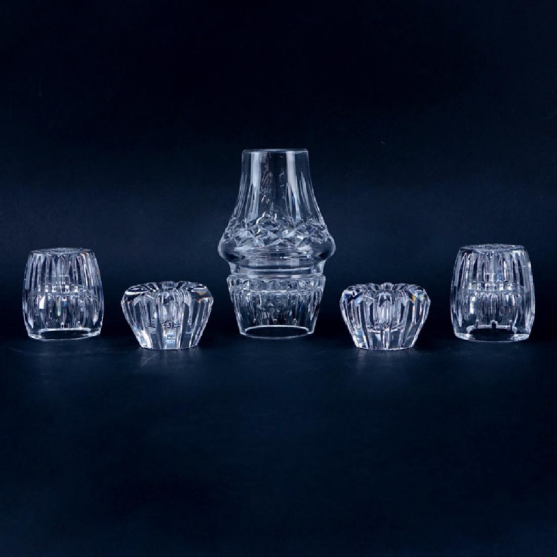 Collection of Five (5) Waterford crystal Candle