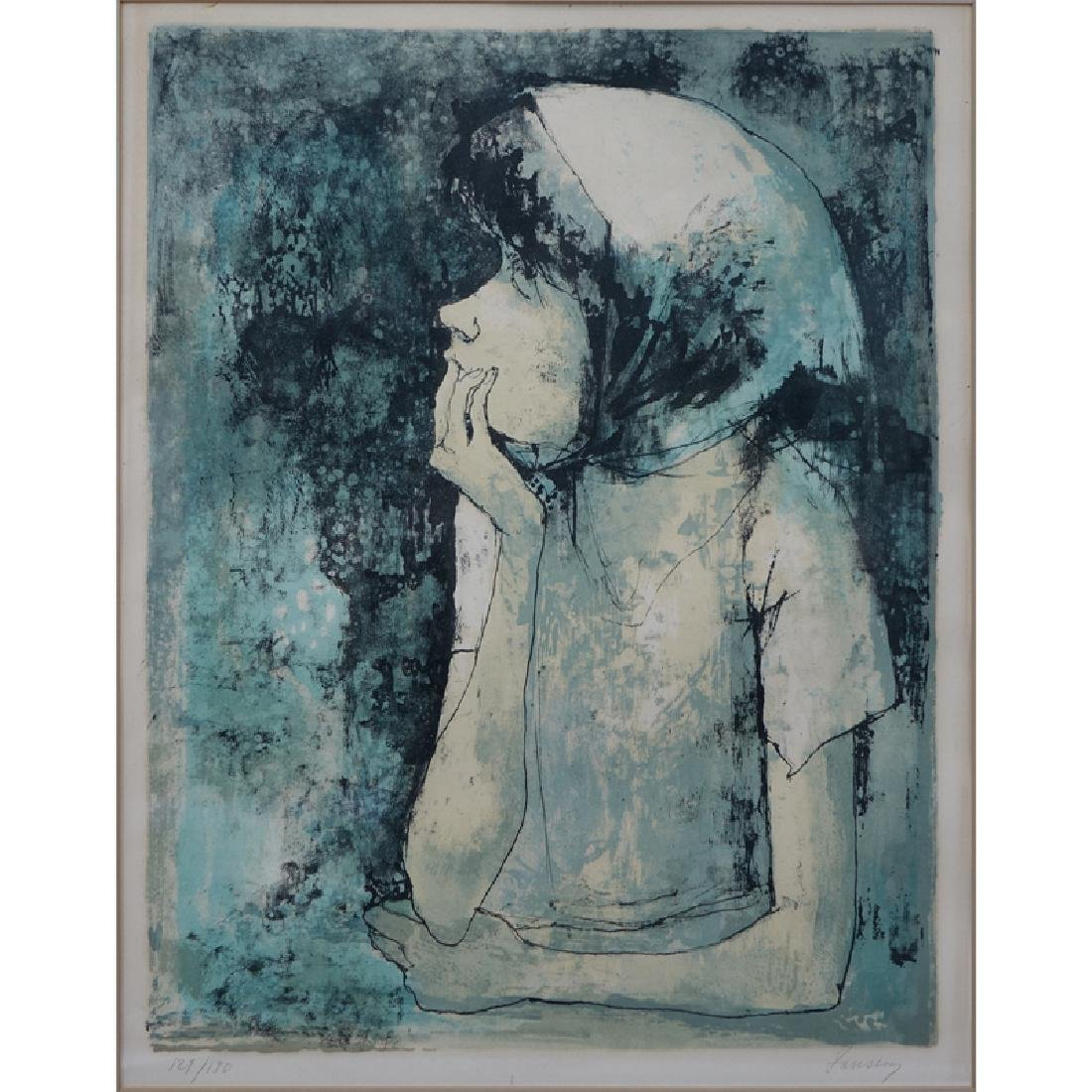 Jean Jansem, French (1920 - 2013) Color lithograph