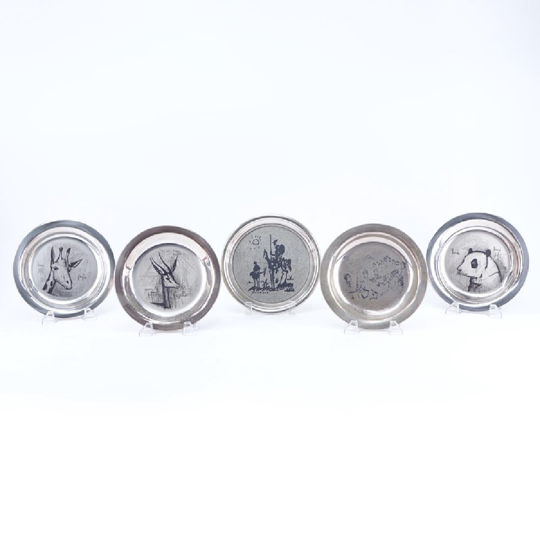 Collection of Five (5) Limited Edition Sterling Silver