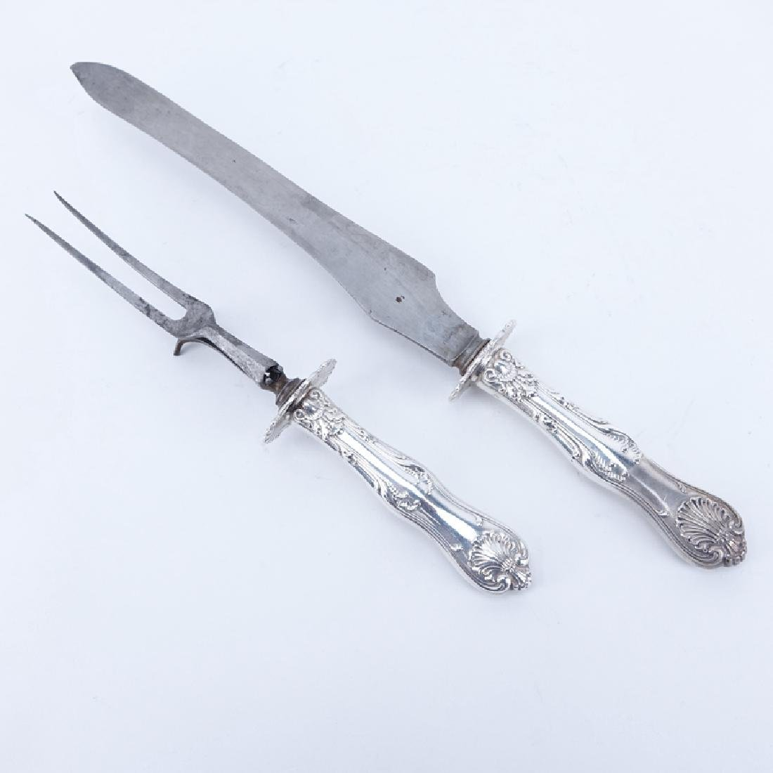 Two (2) Piece Whiting Sterling Silver Handled Carving