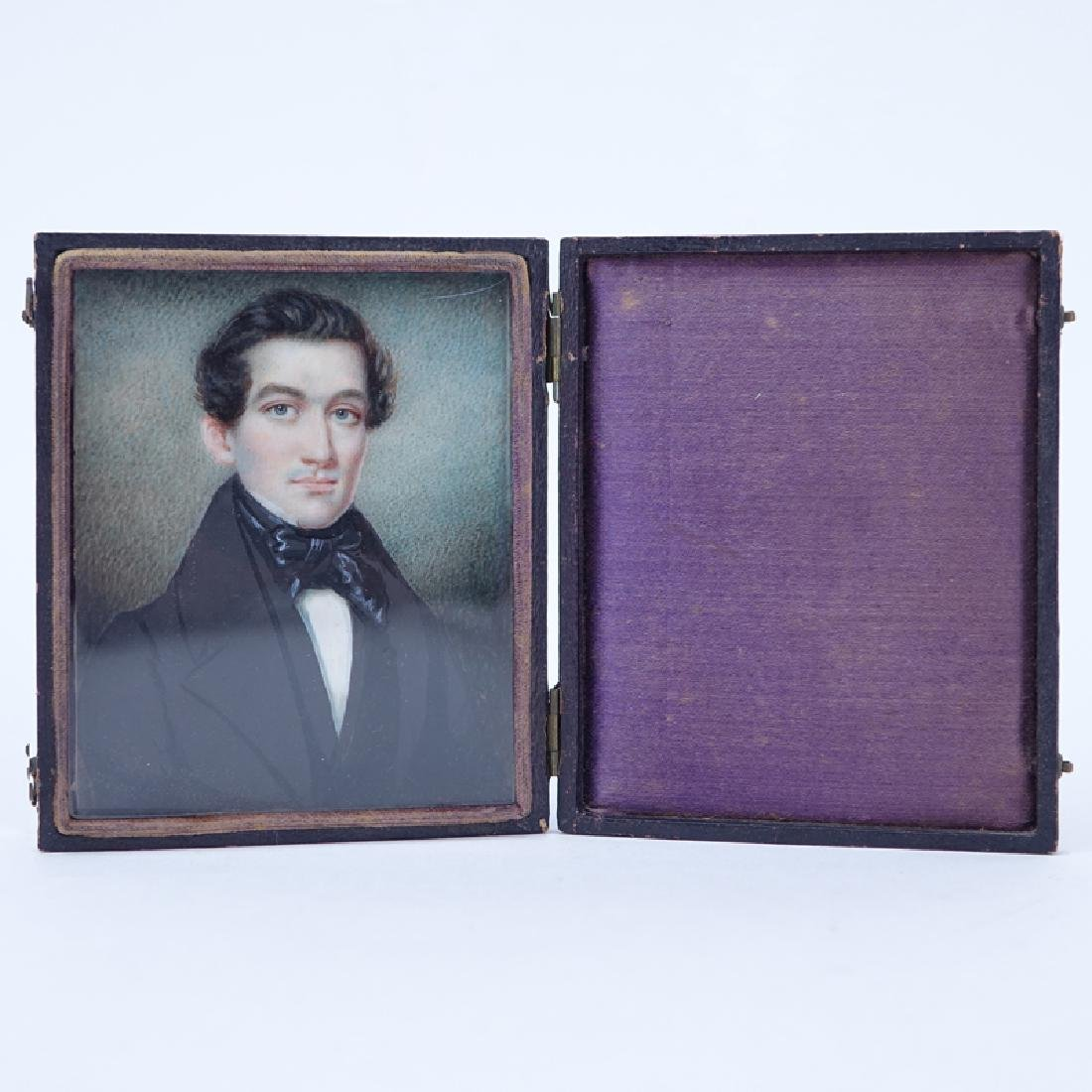 19th Century Miniature Hand Painted Portrait Miniature