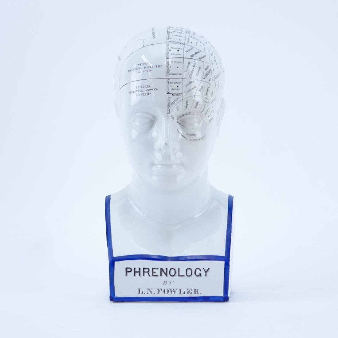 Antique Medical Phrenology Bust After L.N. Fowler