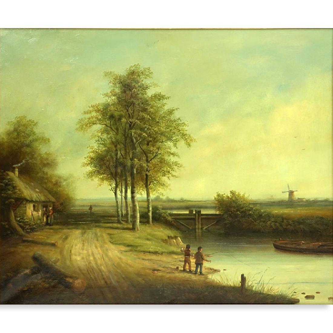 "Brian Coole, British(born 1939) Oil on Canvas ""House"