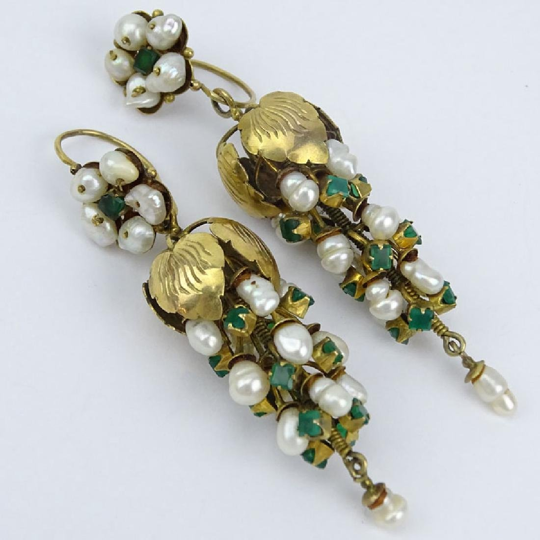Vintage Emerald, Baroque Pearl and 14 Karat (or less)