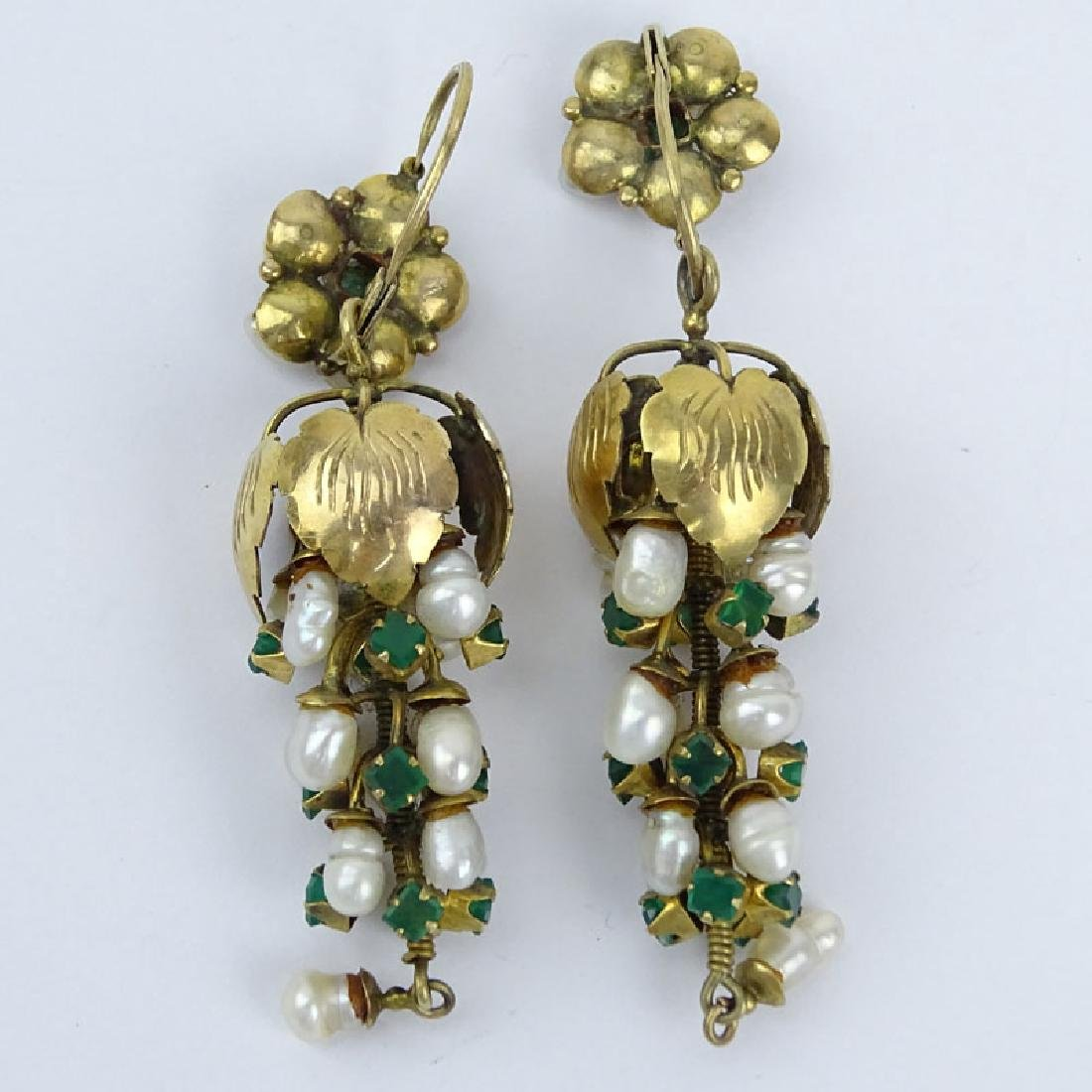 Vintage Emerald, Baroque Pearl and 14 Karat (or less) - 2