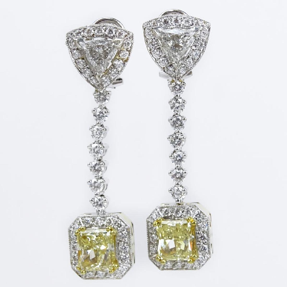 Very Fine Quality Approx. 3.70 Carat Radiant Cut Fancy