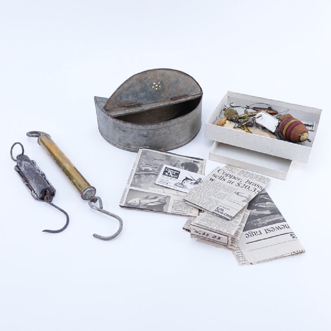 Collection of Vintage Fishing Accoutrement. Lot
