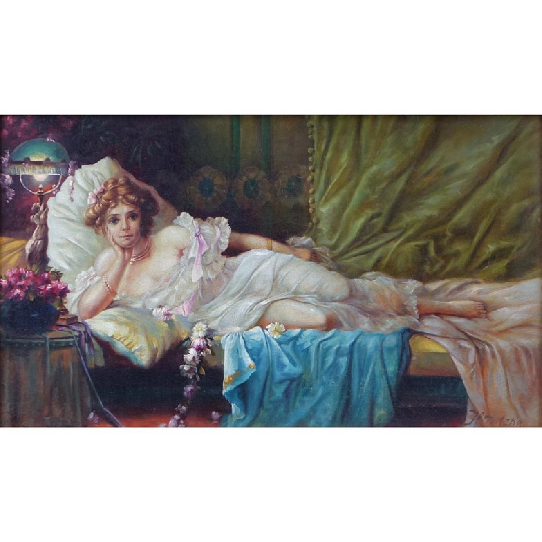 Follower of: Hans Zatzka, Austrian (1859 - 1945) Oil on