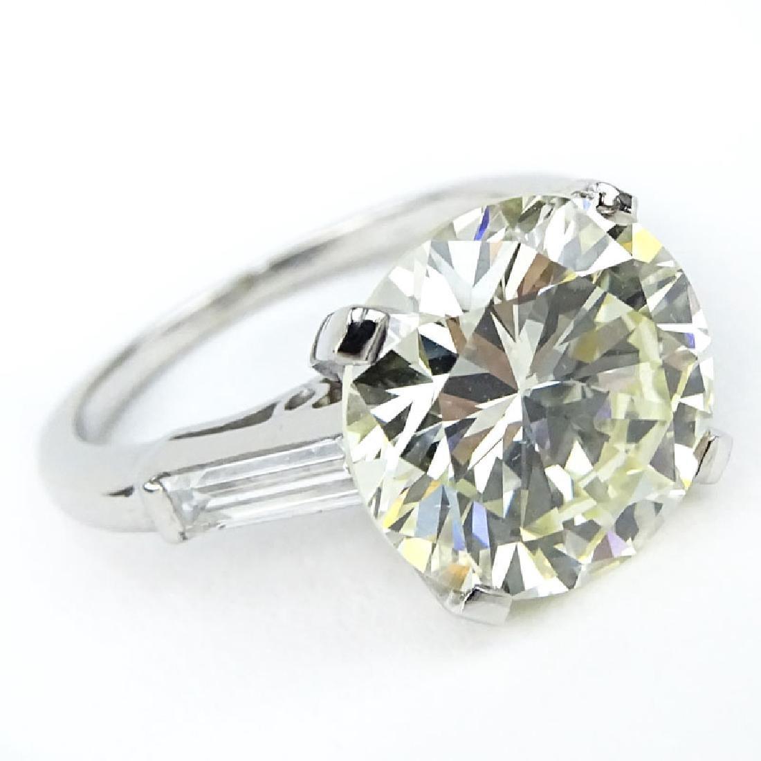 Vintage Approx. 4.87 Carat Round Brilliant Cut Diamond