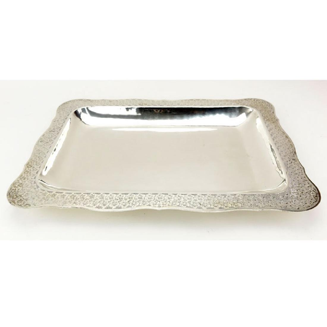 Colombian Florentina 900 Silver Tray. Chased floral - 2