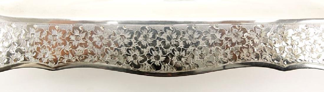 Colombian Florentina 900 Silver Tray. Chased floral - 3