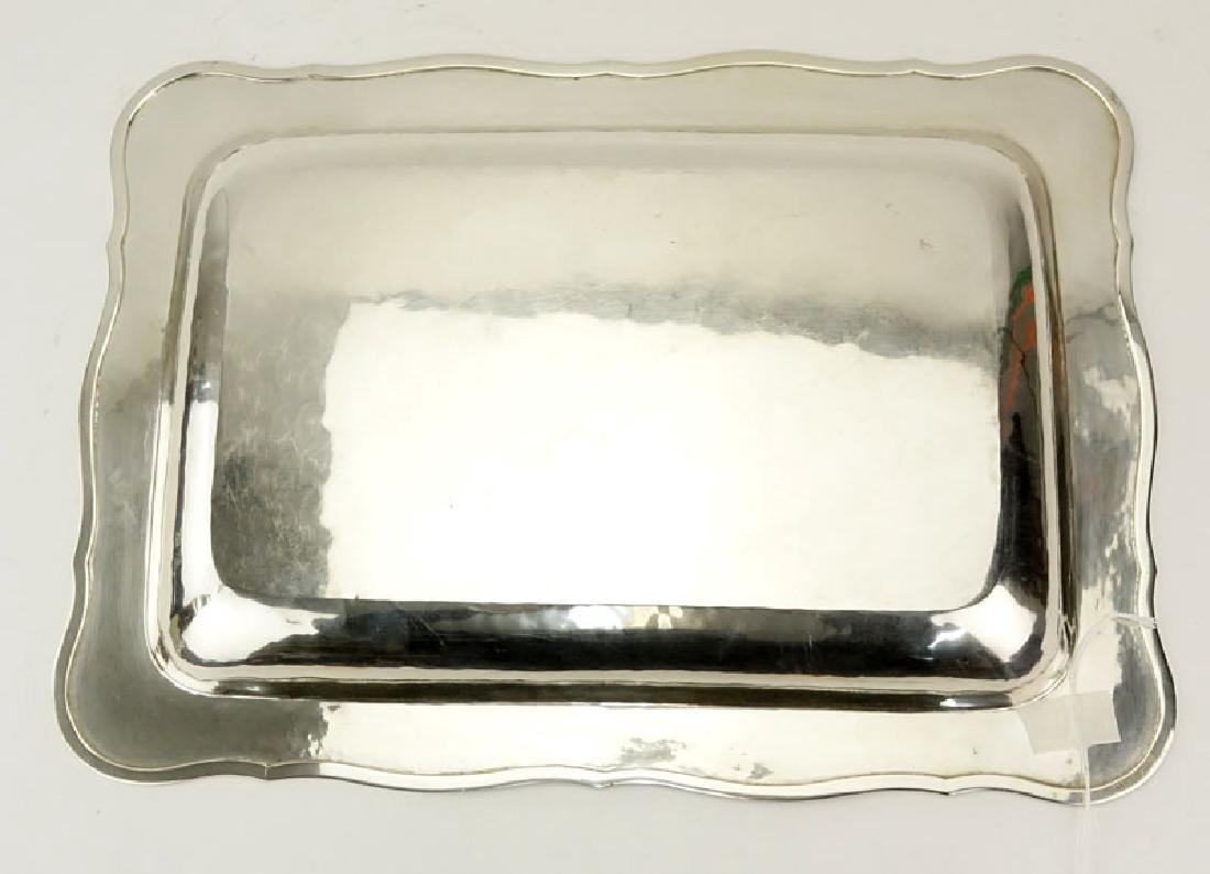 Colombian Florentina 900 Silver Tray. Chased floral - 4