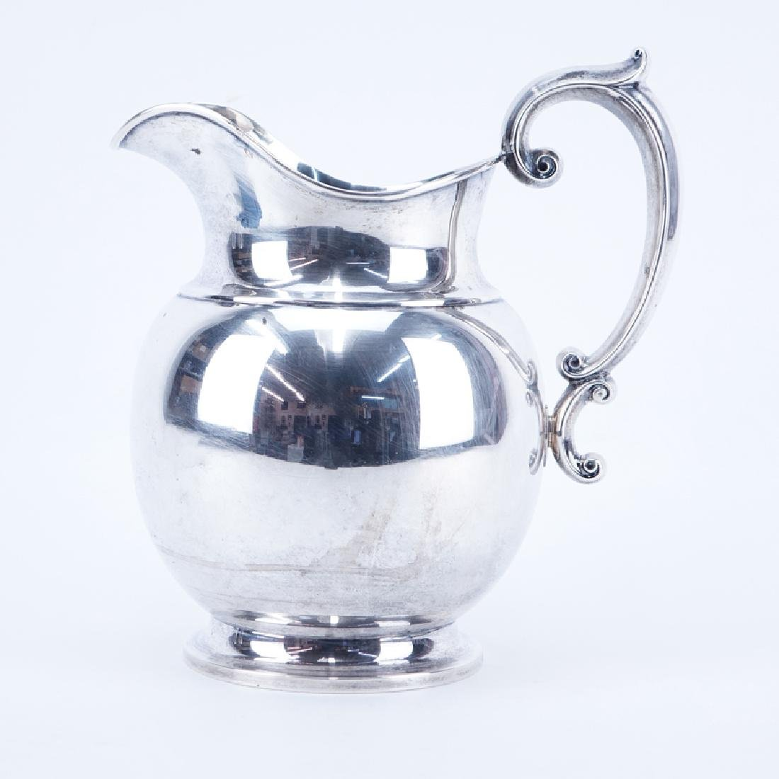 Alvin Sterling Silver Water Pitcher. Signed. Good