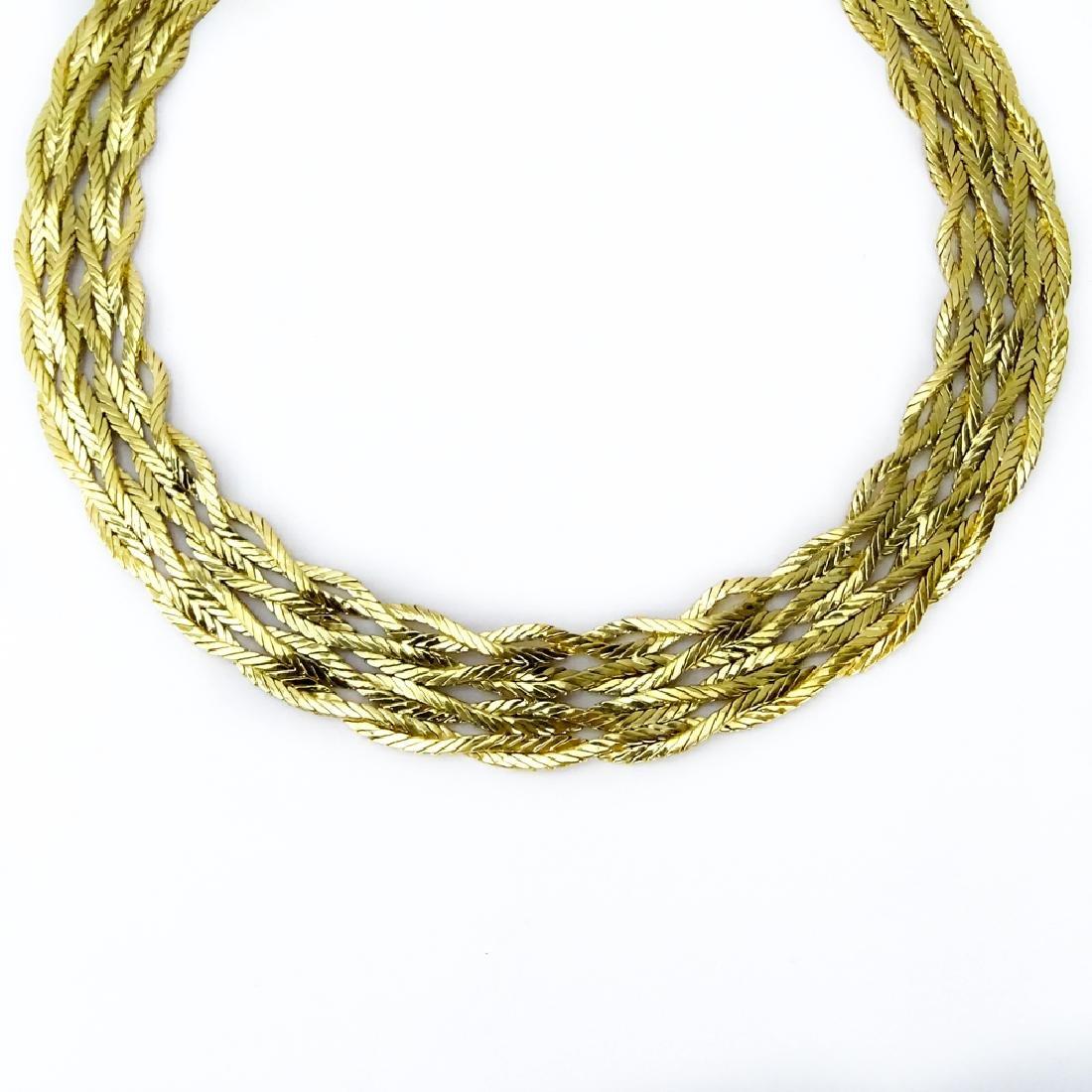 Vintage Mario Buccellati 18 Karat Yellow Gold