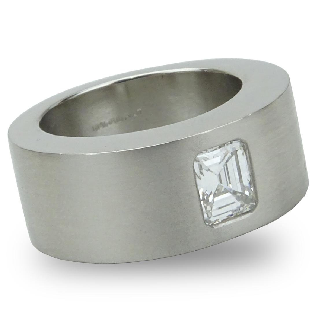 Contemporary Approx. 1.20 Carat Emerald Cut Diamond and