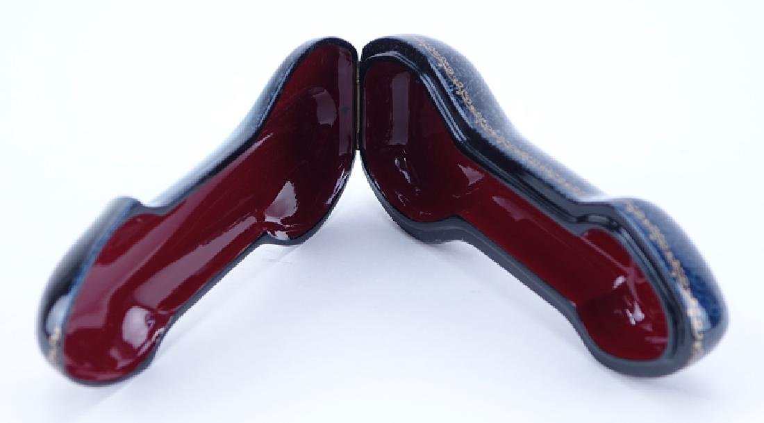 Russian Erotic Lacquered Box. Phallus shaped depicting - 2