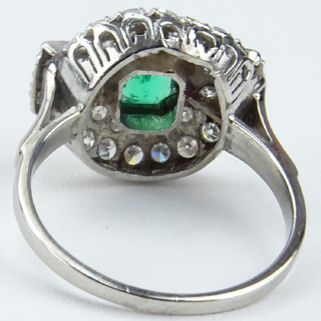 Vintage Approx. 1.75 Carat Emerald and Diamond Platinum - 2