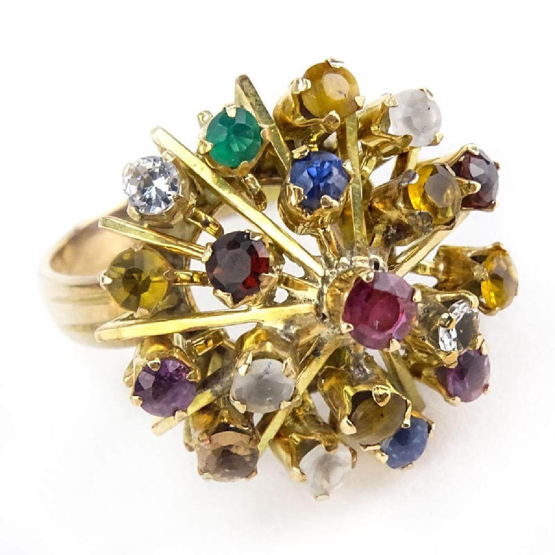 Vintage Multi Gemstone and 18 Karat Yellow Gold
