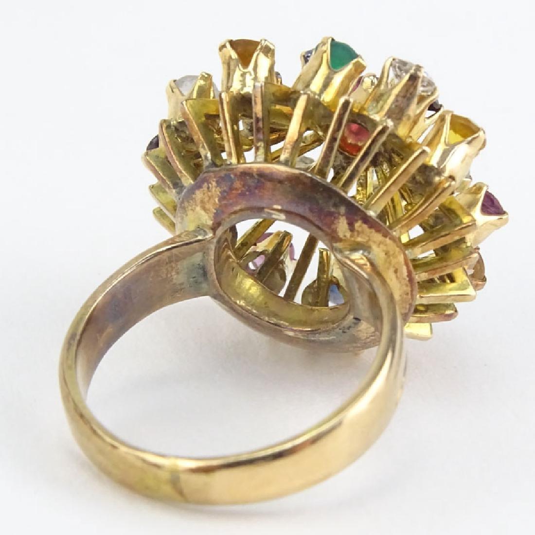 Vintage Multi Gemstone and 18 Karat Yellow Gold - 2
