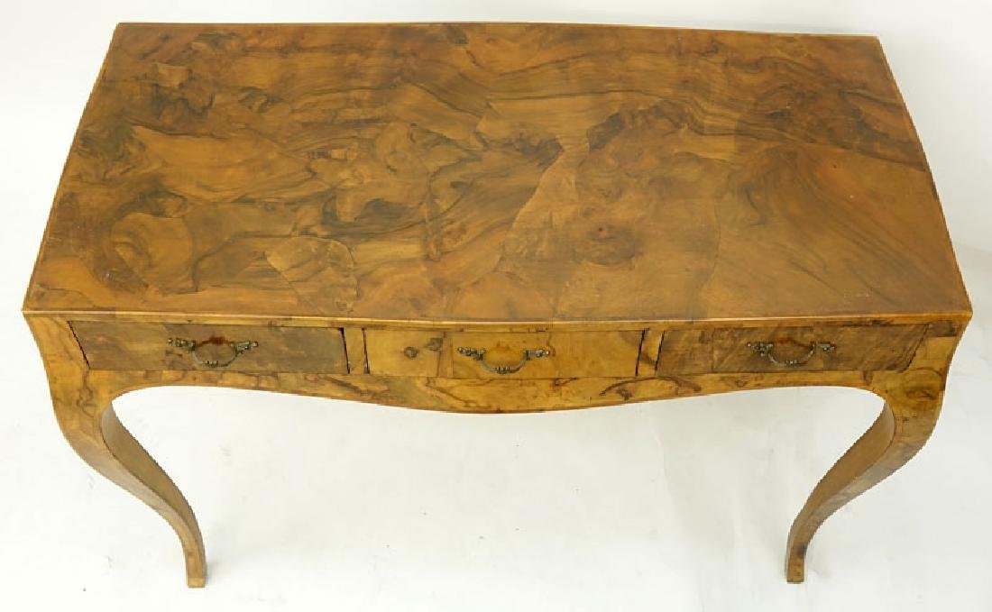 Mid Century Italian Patchwork Burl Wood Inlaid Table. - 4
