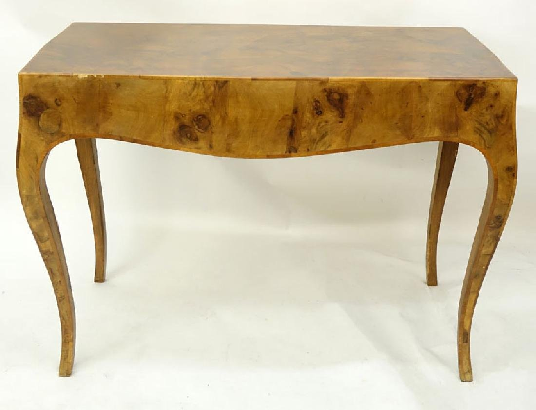 Mid Century Italian Patchwork Burl Wood Inlaid Table. - 5