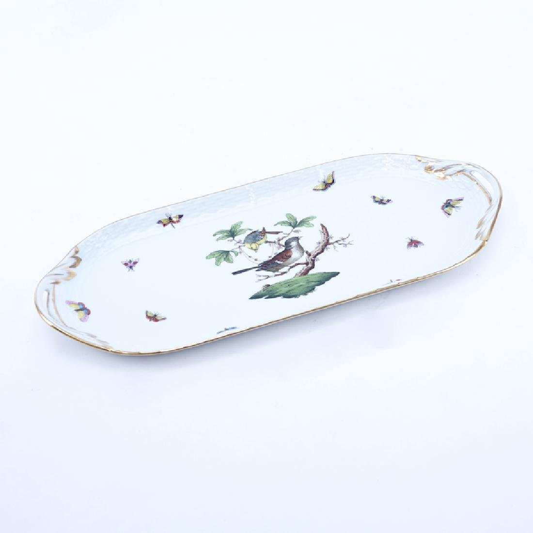 Herend Hand painted Porcelain Tray. Signed and numbered