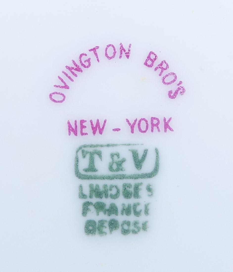 Twelve (12) Limoges For Ovington Brothers Gold - 5
