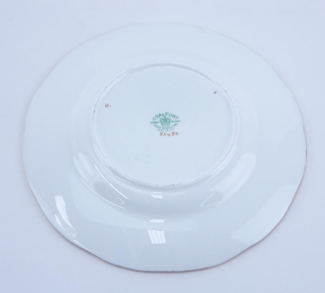Forty (40) Piece Coalport Panel Green Porcelain Coffee - 6