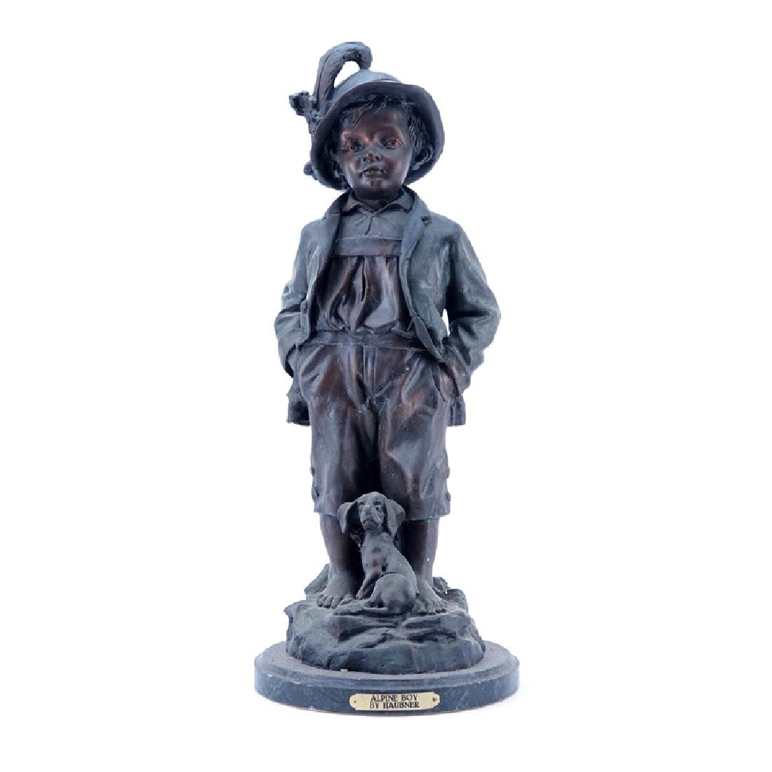"Large 20th Century French Metal ""Alpine Boy"" Sculpture"
