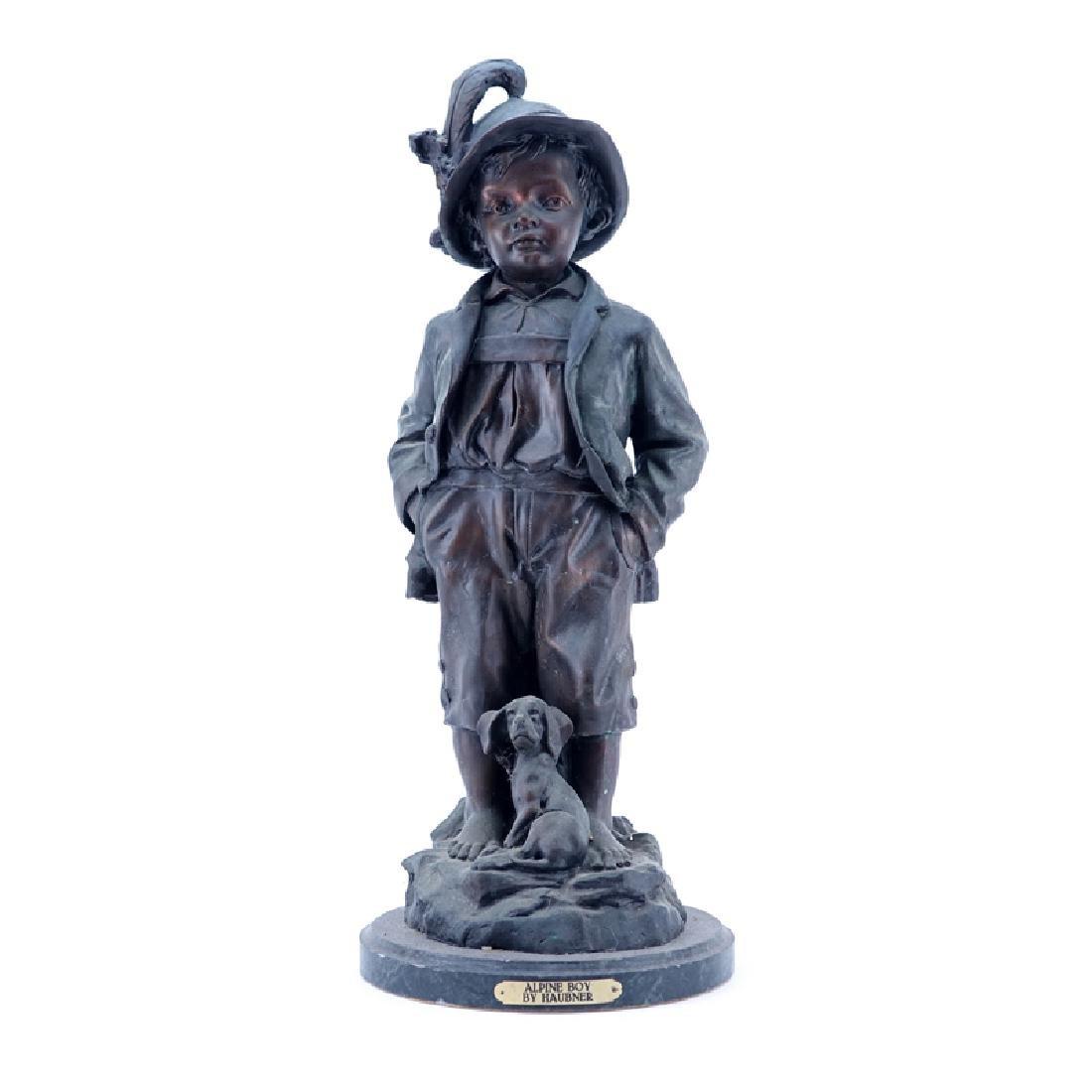 "Large 20th Century French Metal ""Alpine Boy"" Sculpture"