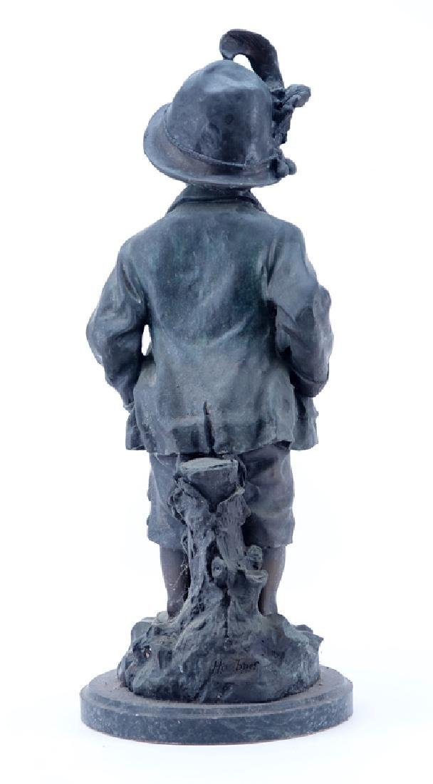 "Large 20th Century French Metal ""Alpine Boy"" Sculpture - 2"