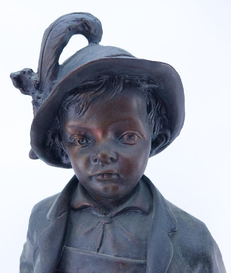 "Large 20th Century French Metal ""Alpine Boy"" Sculpture - 5"