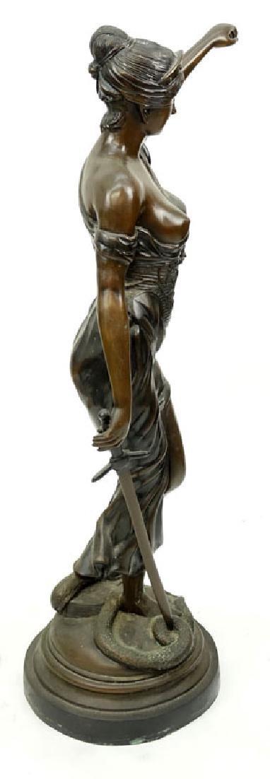 Large Art Nouveau Bronze Sculpture of Blind Justice - 6