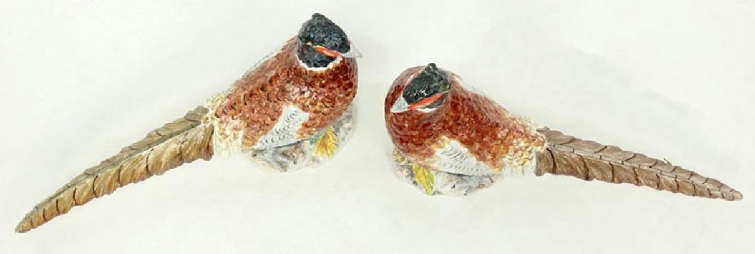 Pair of Mid Century Italian Hand painted Ceramic - 2