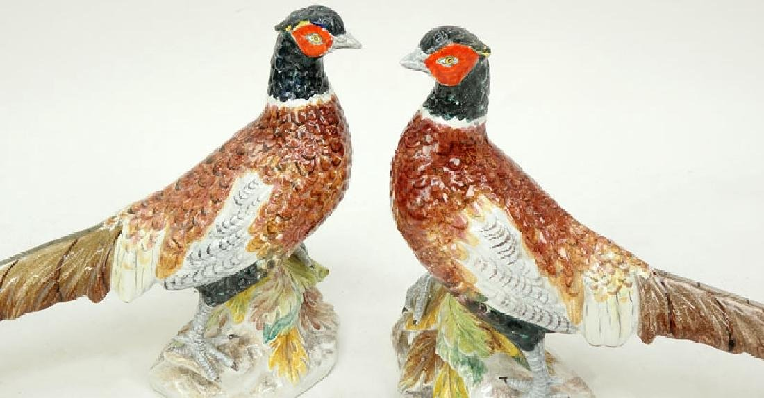 Pair of Mid Century Italian Hand painted Ceramic - 3
