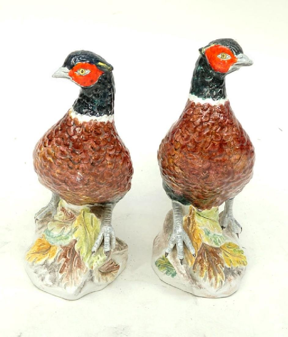 Pair of Mid Century Italian Hand painted Ceramic - 6