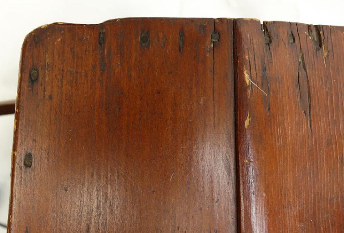 Antique American Wood Cradle. Unsigned. Wear, splits - 5