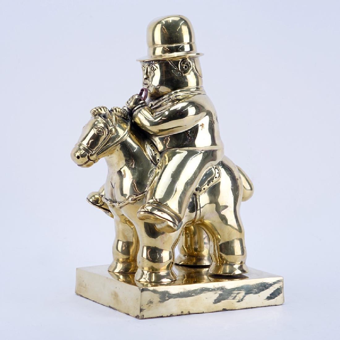 After: Fernando Botero, Colombian (b. 1932) Gilt bronze