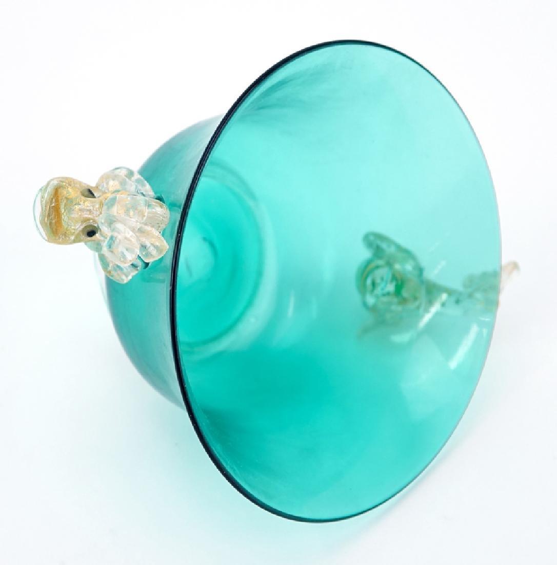 Twelve (12) Hand Blown Venetian Murano Art Glass Footed - 2