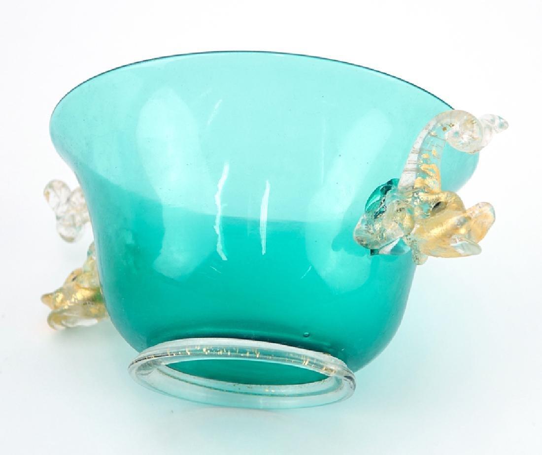 Twelve (12) Hand Blown Venetian Murano Art Glass Footed - 3