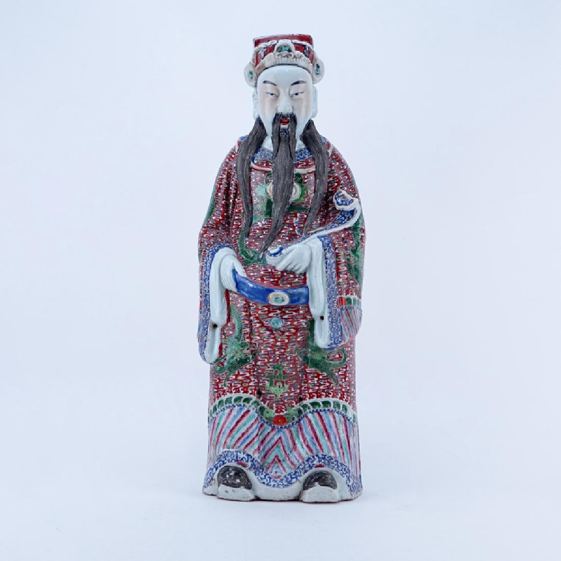 Large Chinese Famille Rose Porcelain Immortal with