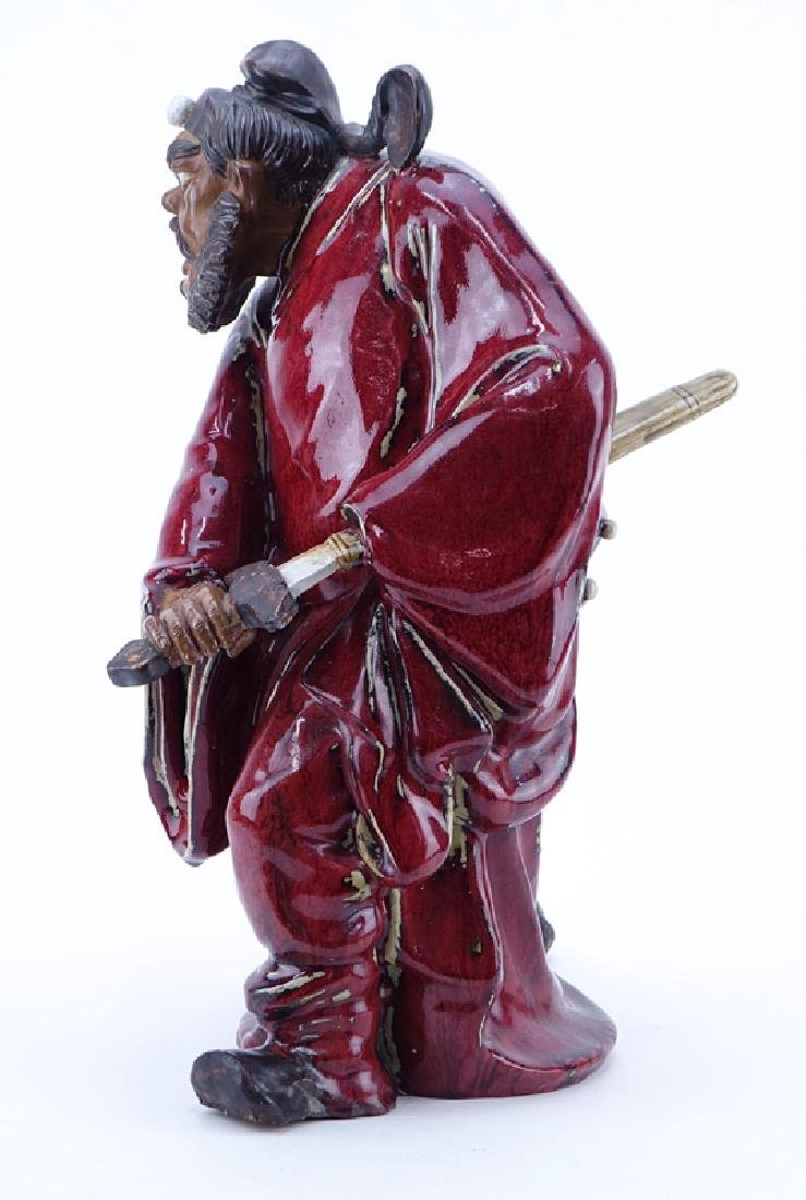 Large Chinese Glazed Mudmen Figure of a Shiwan Warrior - 3