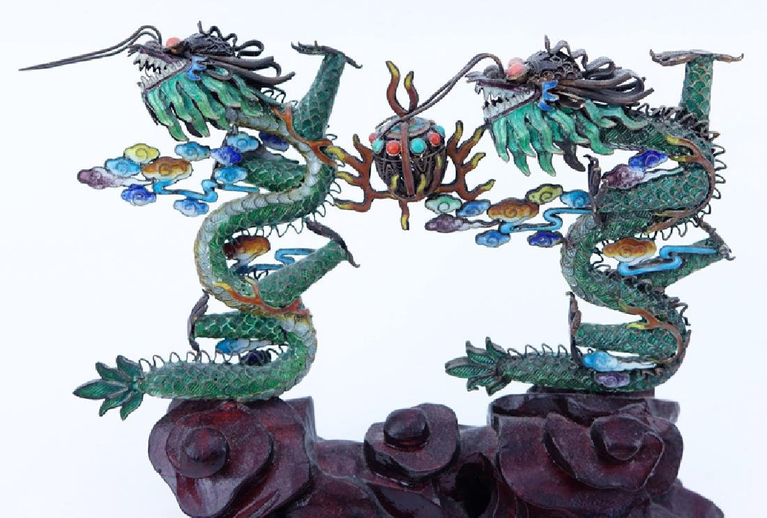 Three (3) Vintage Chinese Asian Silver And Enamel - 2