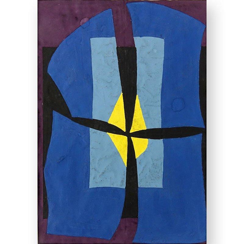 Attributed to: Emilio Pettoruti  (1892 - 1971) Gouache